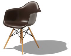 Herman Miller Eames® Molded Plastic Armchair with Dowel-Leg Base modern dining chairs and benches
