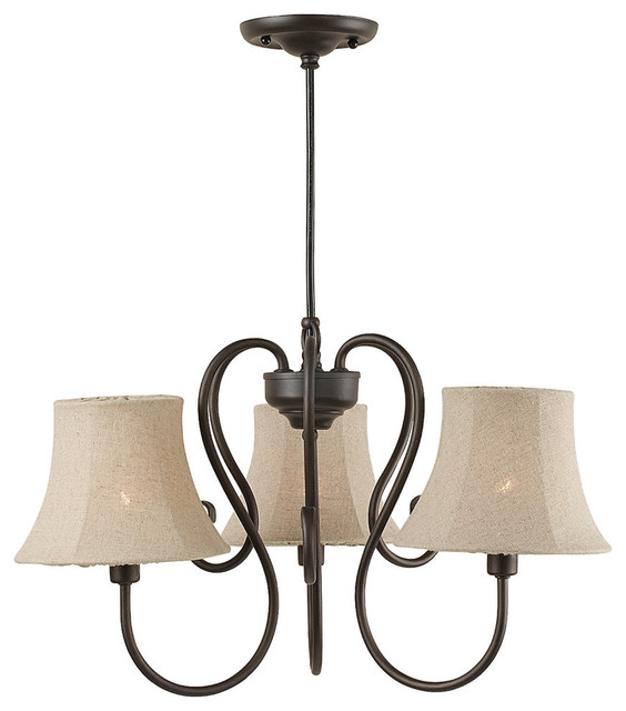 Wrought Iron 3 Light Outdoor Chandelier Oil Rubbed Bronze By Royce ...