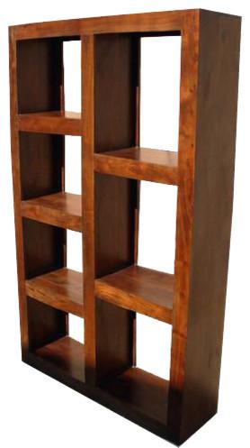 Santa Fe Wood Open Back Bookcase Room Divider Black