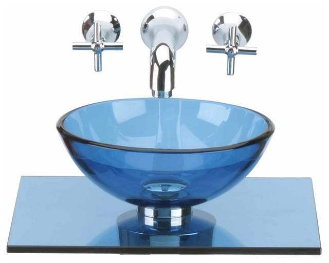 Glass Sinks Blue Glass Sink Counter Mini Vessel