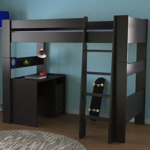 Highsleeper Twin Loft Bed With Built In Ladder Modern
