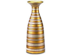 Gold and Silver Striped Vase asian vases