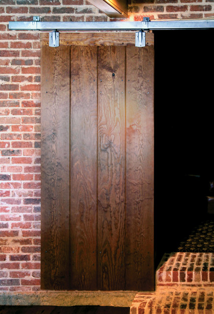 Colonial Sliding Plank Door