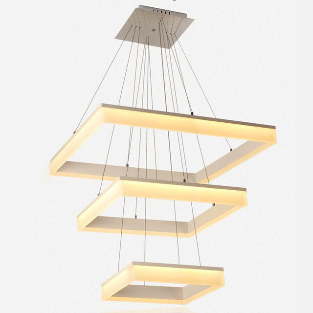 Modern Square Acrylic LED Pendant Lighting In Freely