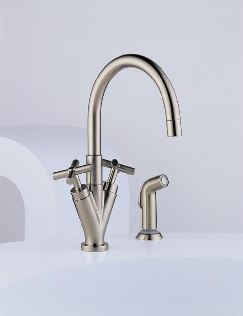 Brizo Trevi Cross Handle Faucet Contemporary Kitchen