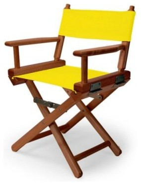 14 in. Canary Child's Canvas Directors Chair - Walnut Frame modern-kids-chairs