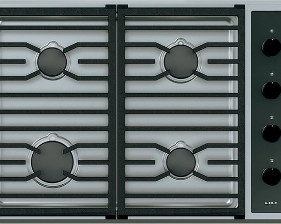 "Wolf 30"" Transitional Gas Cooktop Stainless Steel 