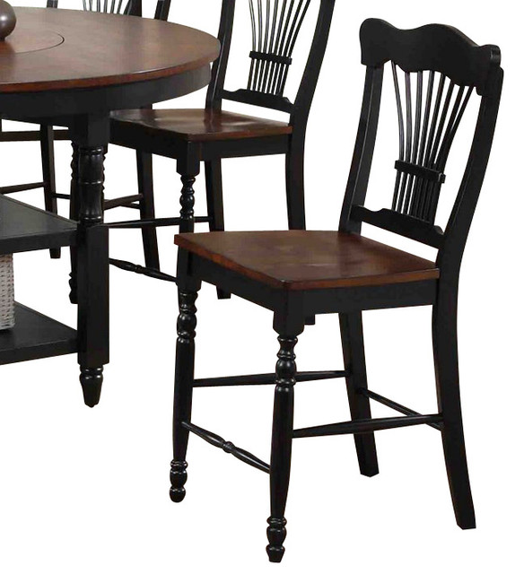 canterbury harvest 18 inch counter height chair set of 2 traditional dining chairs by. Black Bedroom Furniture Sets. Home Design Ideas
