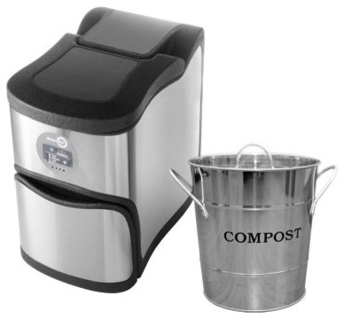NatureMill Ultra Kitchen Composter with Pail modern-kitchen-trash-cans