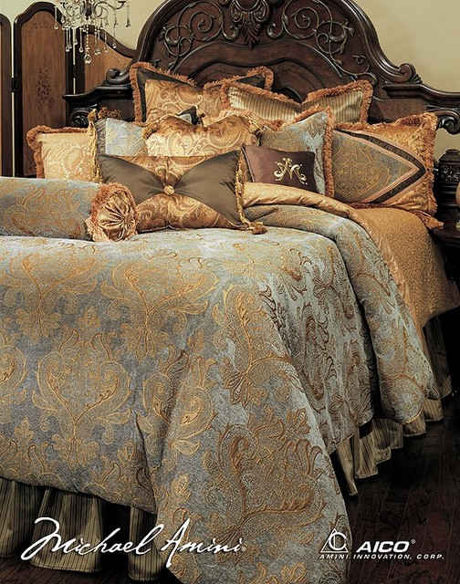 AICO Furniture - Elizabeth Luxury Bedding Sets - 51239437 ...