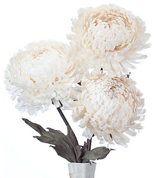 Giant Mum - Set of 3 contemporary-artificial-flowers-plants-and-trees