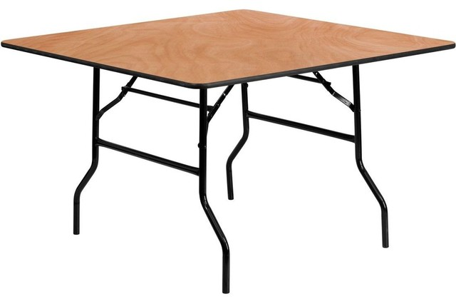 48 Square Wood Folding Banquet Table Contemporary Dining Tables By Modern Furniture Warehouse