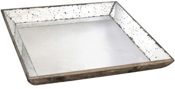 Large Roberto Glass Tray modern serveware