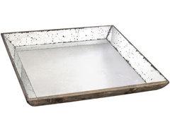 Large Roberto Glass Tray modern-platters