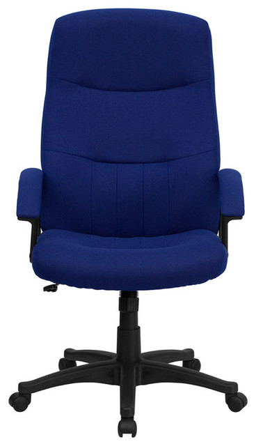 Navy blue fabric executive swivel office chair contemporary office