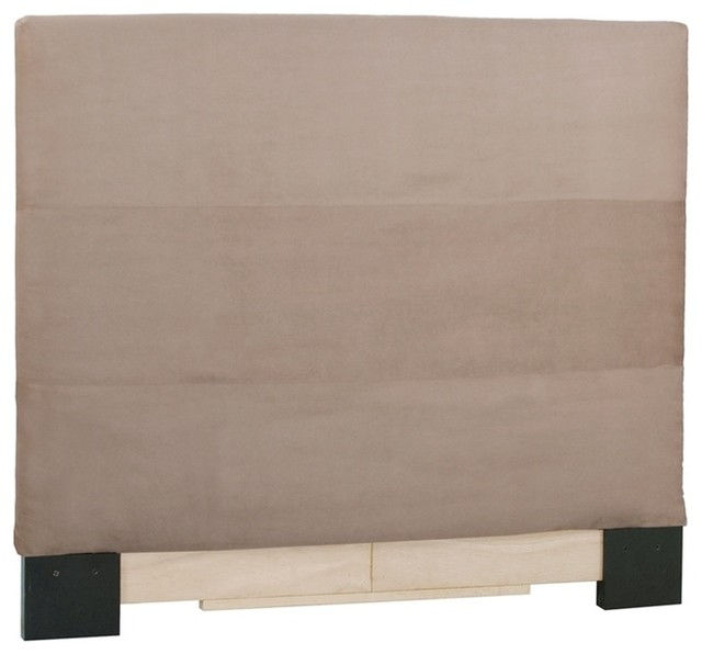 Microsuede Sandstone King Slipcovered Headboard contemporary-headboards