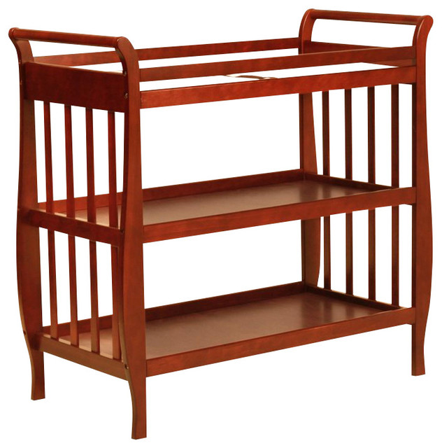 da vinci emily changing table ii in cherry transitional changing tables by cymax