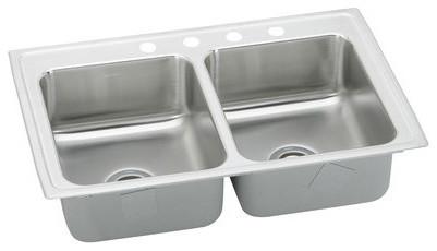 """Gourmet 6.13"""" x 17"""" Top Mount Kitchen Sink modern-bath-products"""