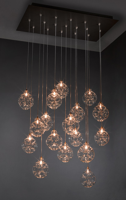 Cloud Chandelier - Blown Glass Pendant Lighting contemporary-pendant-lighting