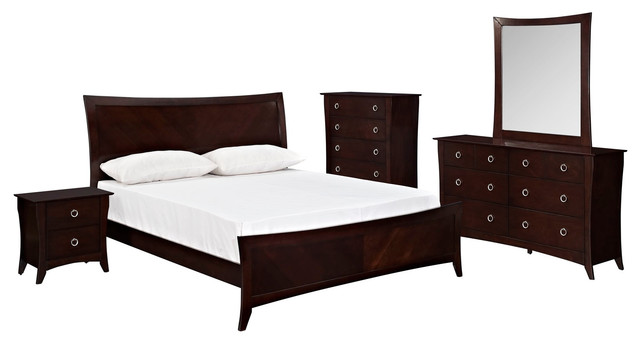 modern king bedroom sets elizabeth 5 piece king bedroom