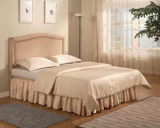 Bedrooms Furniture - Tan Microfiber Bedroom Set