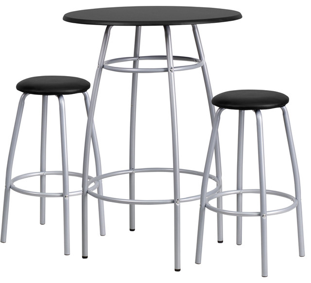 Flash Furniture Bar Height Table And Stool Set Contemporary Indoor Pub An