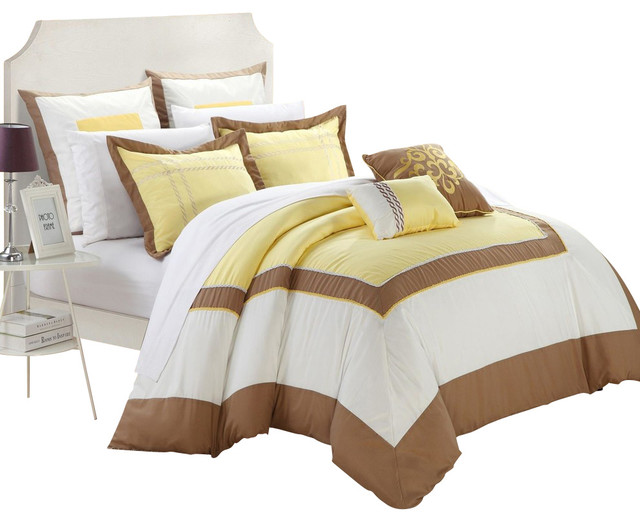 Yellow and brown comforter set 28 images beautiful 7pc Better homes and gardens channel 7