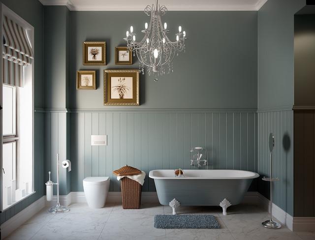 Retro Victorian Bathroom Traditional Rendering Other Metro By Bathroom By Design
