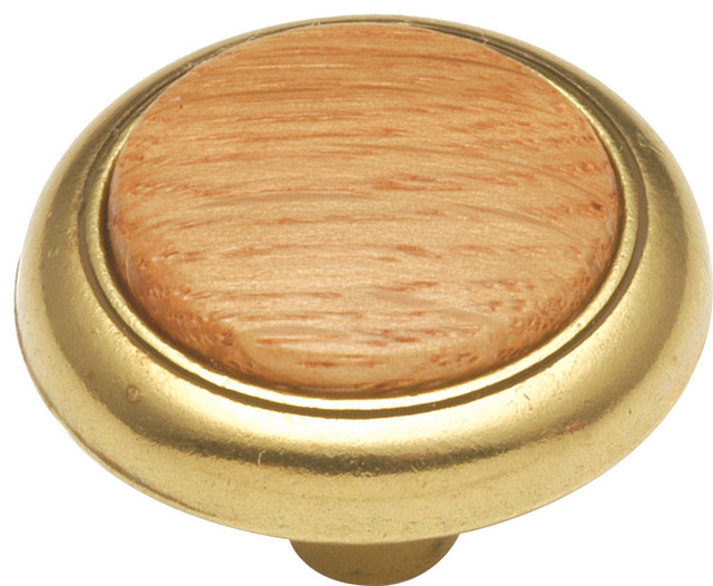 ... In. Wood grain Oak Cabinet Knob transitional-cabinet-and-drawer-knobs