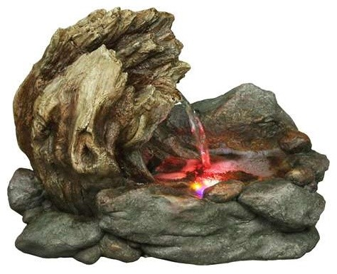 10 Quot Stone Basin Tree Trunk Tabletop Fountain Traditional