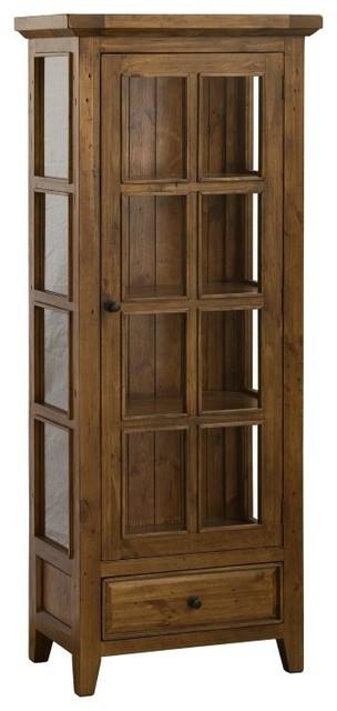 Hillsdale Tuscan Retreat Small Curio Cabinet - 4793-884W - Contemporary - China Cabinets And Hutches