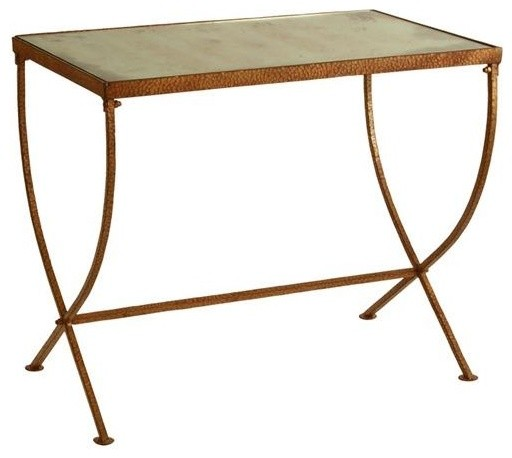 Arteriors Kensington Iron and Mirror Tapered Leg Table traditional-side-tables-and-end-tables