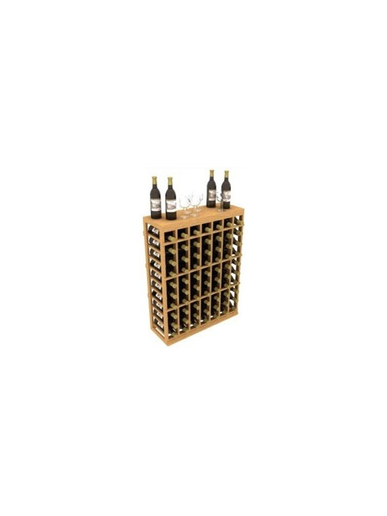 Individual Half Wine Rack with Table Top - The Individual Half Wine Rack with Table Top is part of our 6' Series.