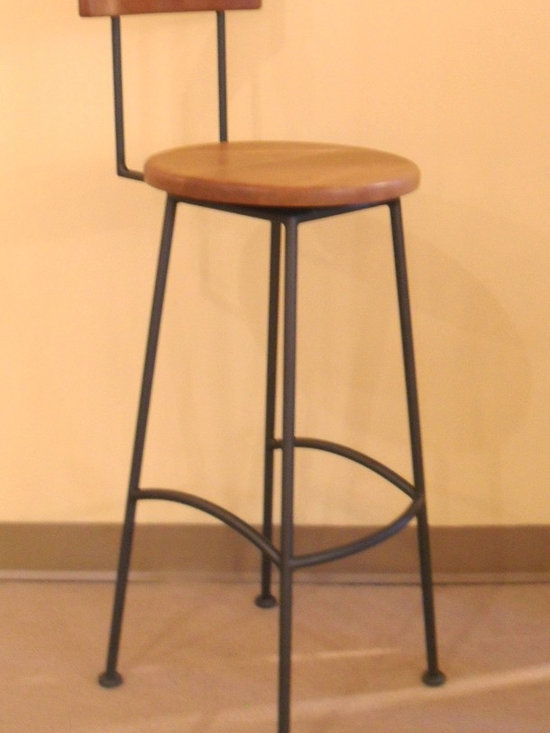 CLASSIC HIGH BACK BARSTOOL - Early American influences can be easily found in this classic barstool. Clean lines, simplicity of design, and porportions in perfect balance make this a chair that is right at home in environments from traditional to contemporary.