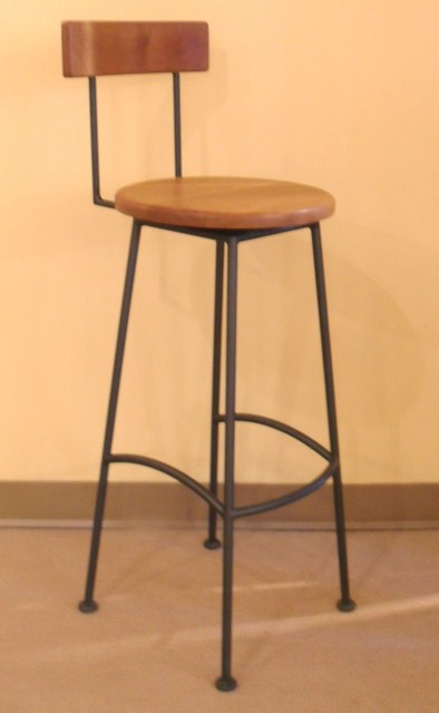 Classic high back barstool traditional bar stools and counter stools