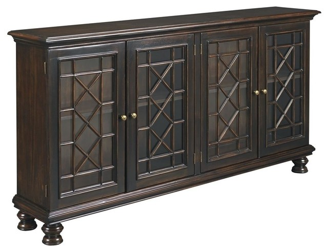 New Bookcase  Black Mahogany Anson WB traditional-bookcases