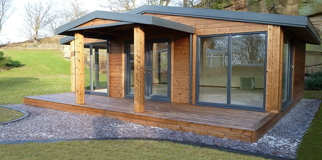 Timber framed cabin prefab studios other metro by for Prefab studio cottage