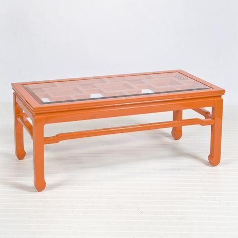 Worlds Away Changright Orange Coffee Table Traditional Coffee Tables By Candelabra
