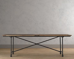 Flatiron Dining Table eclectic dining tables