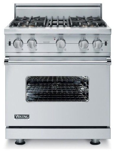 "Viking 30"" Custom Freestanding Open Burner Gas Range eclectic-gas-ranges-and-electric-ranges"