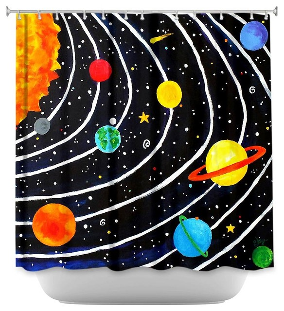 Solar system curtains pics about space for Solar system fabric panel