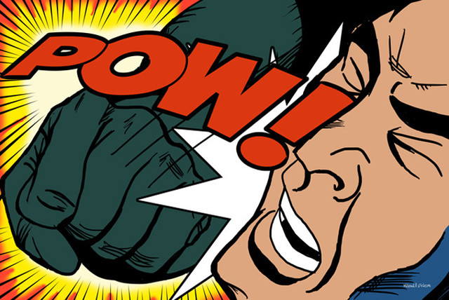 Maxwell dickson pow comic pop canvas print art by roy for Poster roy lichtenstein