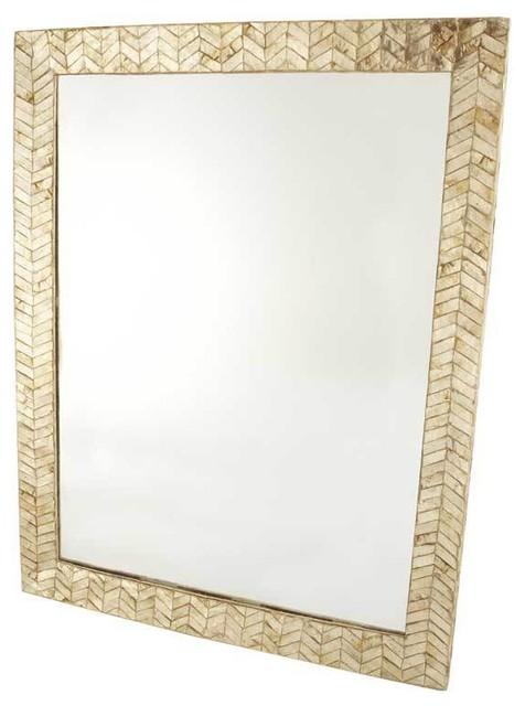 Capiz Shell Mirror contemporary-mirrors