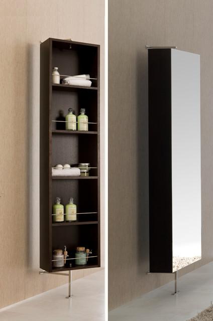 ... Rotating bathroom linen cabinet. Wenge. contemporary-bathroom-storage