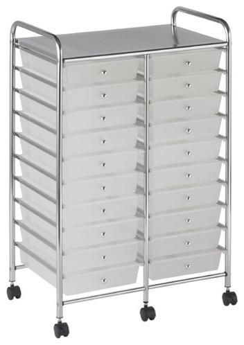 20-Drawer Double-Wide Mobile Organizer modern-home-office-accessories
