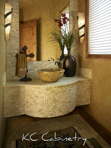 Rustic Powder Rooom bathroom