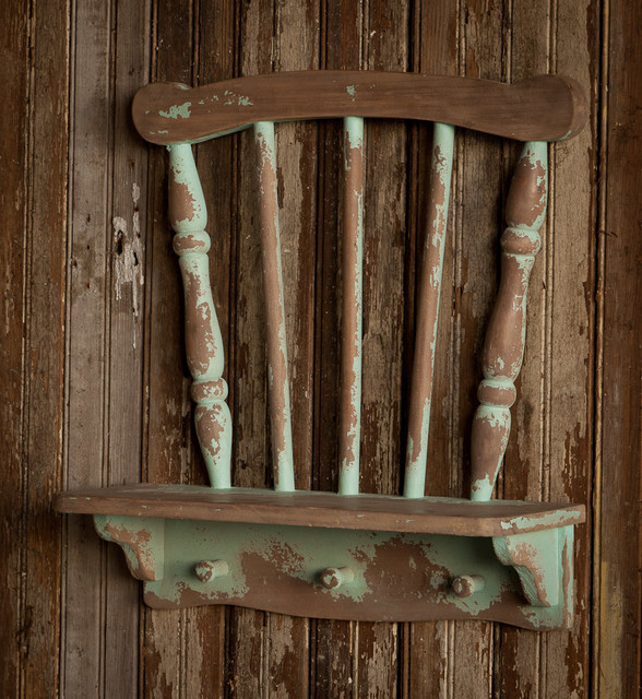 Repurposed Chair Shelf - Farmhouse - Display And Wall Shelves - new york - by A Cottage in the City