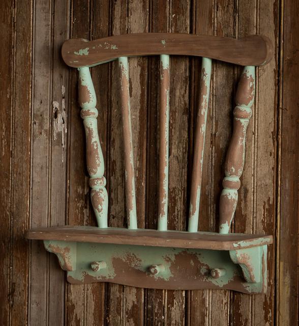 Repurposed Chair Shelf farmhouse-wall-shelves