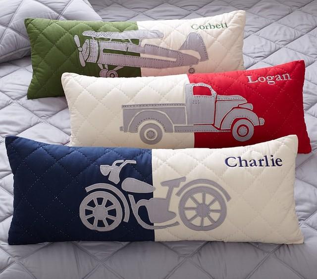 Charlie Lumbar Shams contemporary-kids-bedding