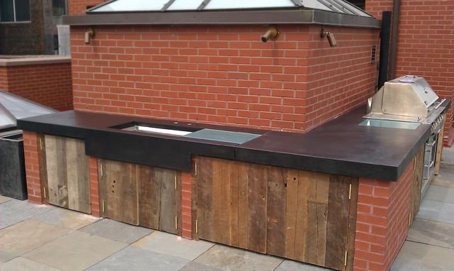 outdoor kitchen modern kitchen countertops new york by